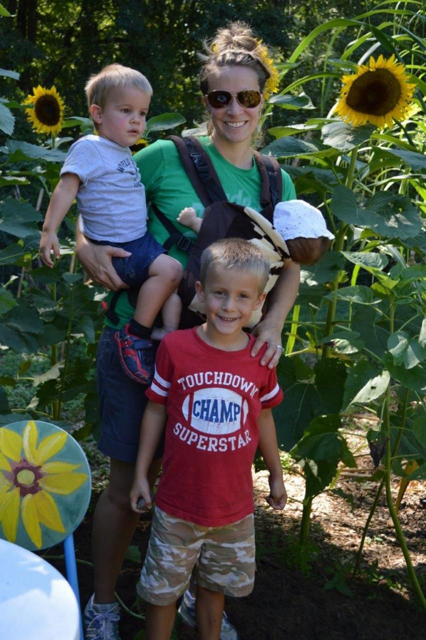 Sunflower field trip